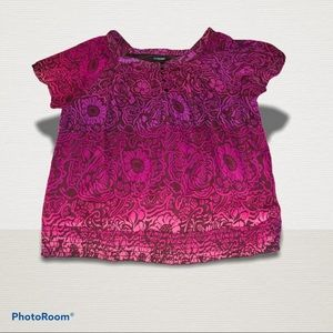 lane bryant pink flower Peasant with elestic waist